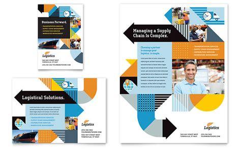 logistics warehousing flyer ad template design