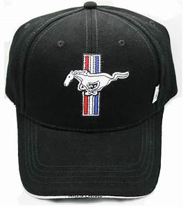FORD MUSTANG BLACK HAT WITH MUSTANG TRIBAR LOGO LICENSED BY FORD   eBay