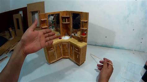 como hacer  mueble tocador de bano  munecas parte