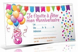 Invitation Anniversaire Fille 9 Ans : invitation anniversaire 5 ans 123 cartes anniversaire ~ Melissatoandfro.com Idées de Décoration