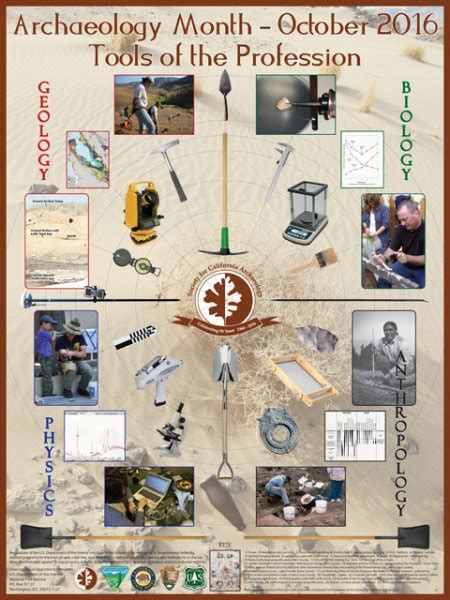 archaeology month posters society  california archaeology