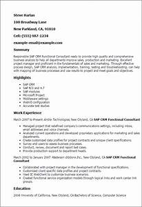 1 sap crm functional consultant resume templates try for Microsoft dynamics crm functional consultant resume
