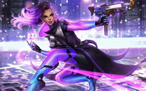 sombra artwork overwatch wallpapers hd wallpapers id