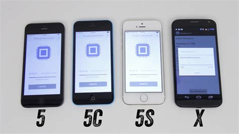 iphone 5 vs 5s iphone 5s vs iphone 5c vs iphone 5 vs moto x benchmark