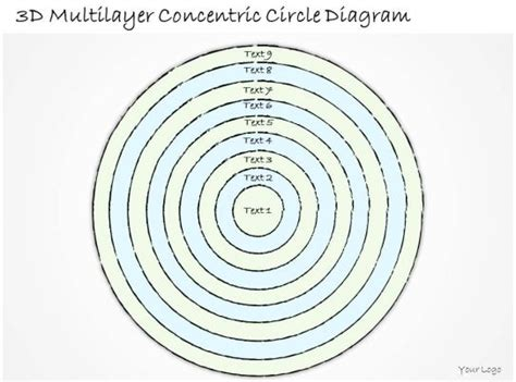 business  diagram  multilayer concentric circle