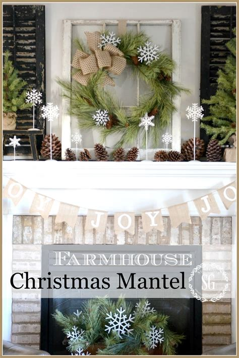 farmhouse christmas mantel stonegable