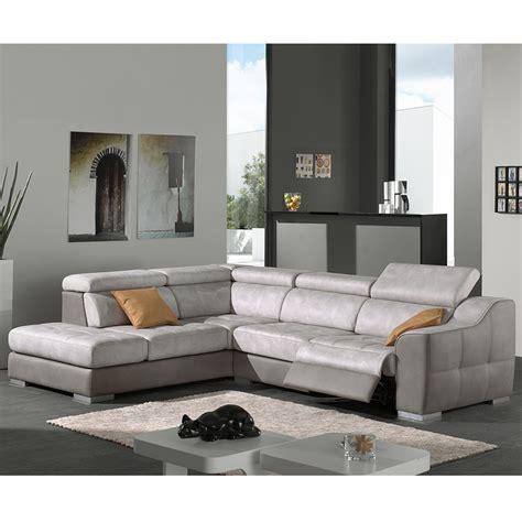 h h canap canap d 39 angle gris en tissu malaga sofamobili