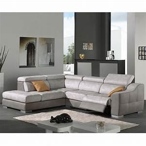 Canapé Tissu Gris : canap d 39 angle gris en tissu malaga sofamobili ~ Teatrodelosmanantiales.com Idées de Décoration