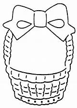 Easter Basket Coloring Empty Printable Clipart Clip Designs Pattern Baskets Cliparts Quotes Library Popular sketch template