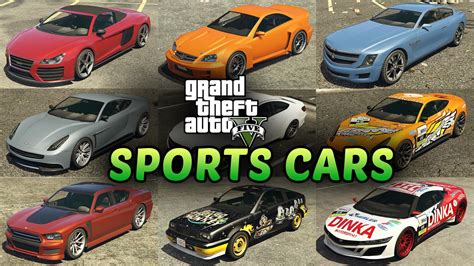 All Sports Cars In Grand Theft