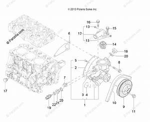 Polaris Side By Side 2013 Oem Parts Diagram For Engine  Water Cooling System