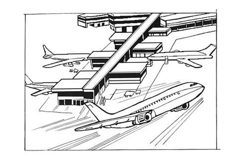 Vliegveld Kleurplaat by Kleurplaat Luchthaven Vliegveld Afb 9534