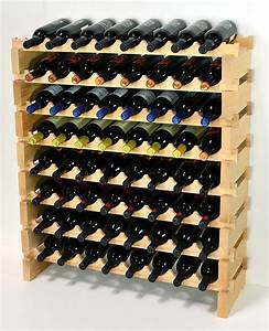 Sfdisplay, Com, Llc, Modular, Wine, Rack, Beechwood, 32