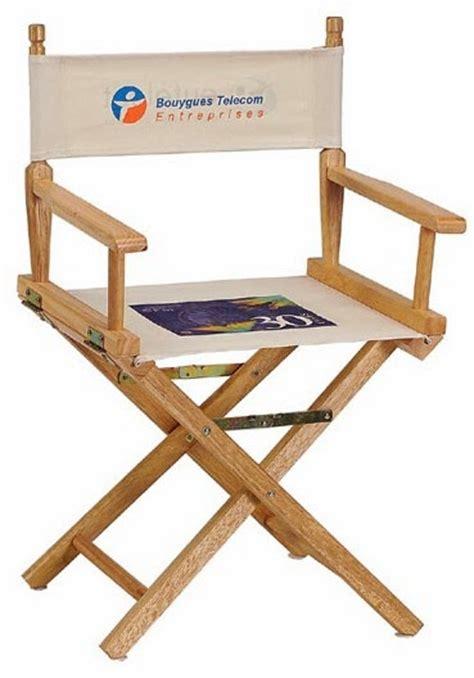chaise metteur en sc ne b b cinéma evénementiel salon séminaire objets publicitaires