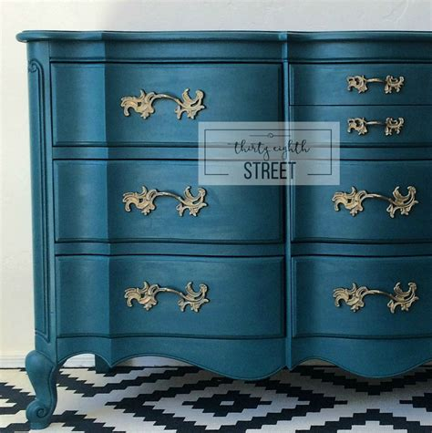 Painted Dresser In Peacock Blue!  Thirty Eighth Street