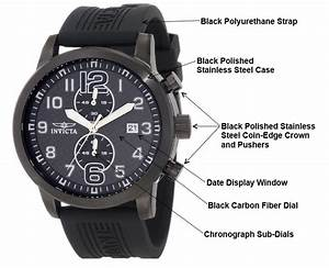 Amazon Com  Invicta Men U0026 39 S 11245 Specialty Black