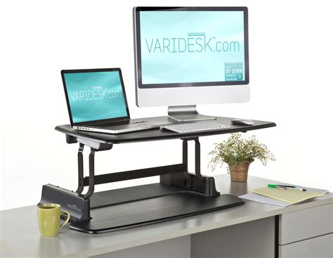 space saving standing desk furniture adjustable desk with plants and space saving