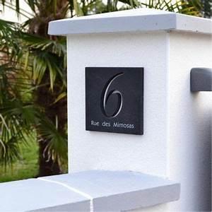 Plaque De Rue Personnalisée Extérieur : choisissez une belle plaque en ardoise avec chiffres d coup s pour votre nouvelle maison vous ~ Dode.kayakingforconservation.com Idées de Décoration