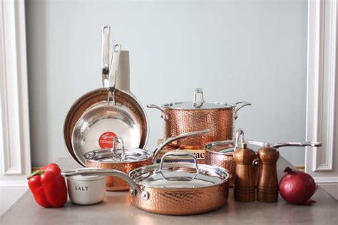 lagostina martellata copper cookware set classic craftsmanship