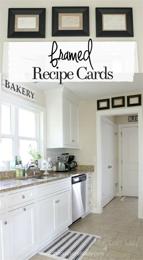 Decorating Ideas For Large Kitchen Wall by Framed Recipe Cards Home Fixer Style Kitchen