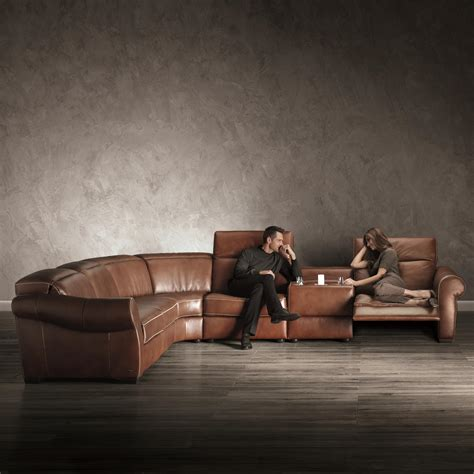natuzzi leather sofa and loveseat b751 transitional reclining sectional with storage console