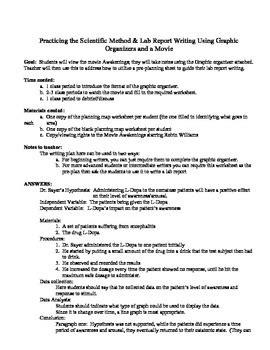 awakening  scientific method lab report writing