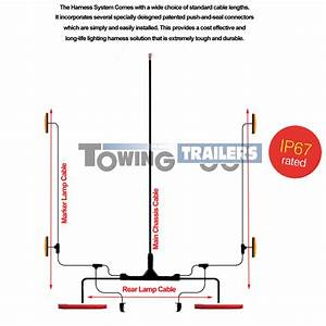 Led Autolamps Amber Side Low Profile Harness Trailer