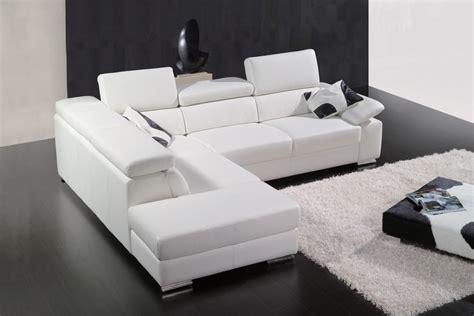 canapé sortie d usine canapé d 39 angle en cuir italien 5 places helios blanc