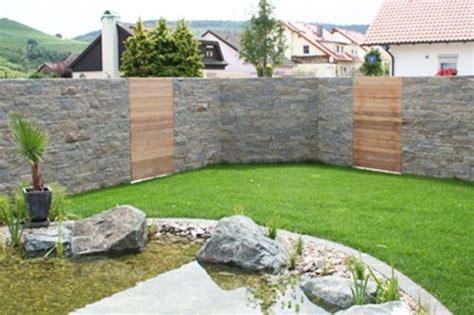 Garten Sichtschutz Mit Steinen by Sichtschutz Aus Stein Sichtschutz Aus Stein Im Garten Baum
