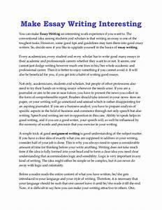 Make an essay