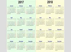 2017 2018 calendar Printable 2018 calendar Free Download