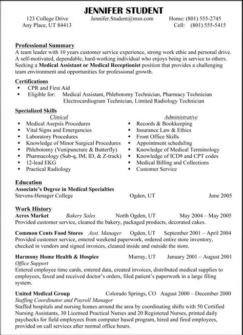 Culinary Resume Objective Sle by Best 25 Resume Format Ideas Only On