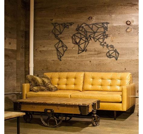 metal wall decoration world map artwall