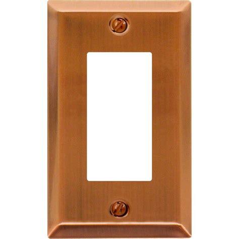amerelle filigree 1 decora wall plate antique hton bay tiered 1 decora wall plate antique copper
