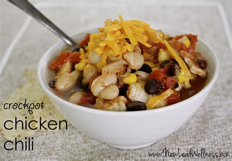 crockpot chicken chili five chicken crockpot recipes new leaf wellness