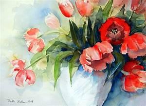 Aquarell Blumen Malen : aquarell blumen malen ~ Frokenaadalensverden.com Haus und Dekorationen