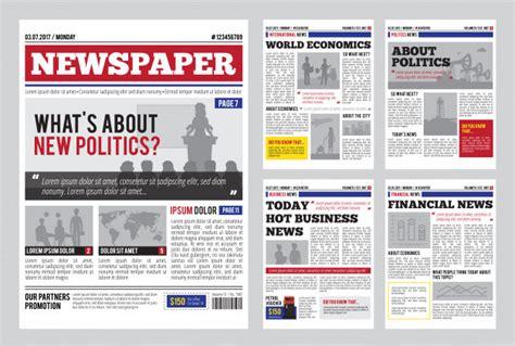newspaper template vectors   psd files