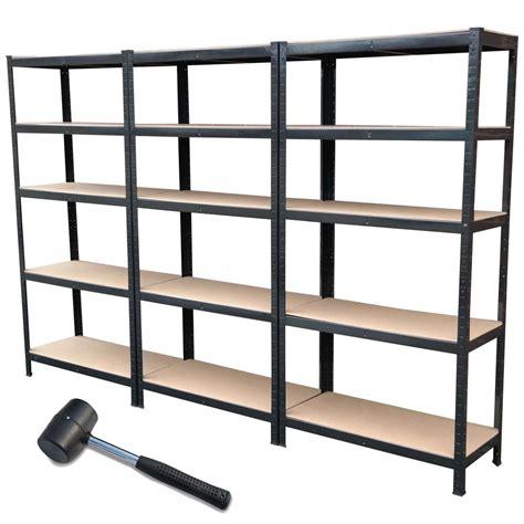 industrial storage racks 3 bay metal shelving unit heavy duty storage racking