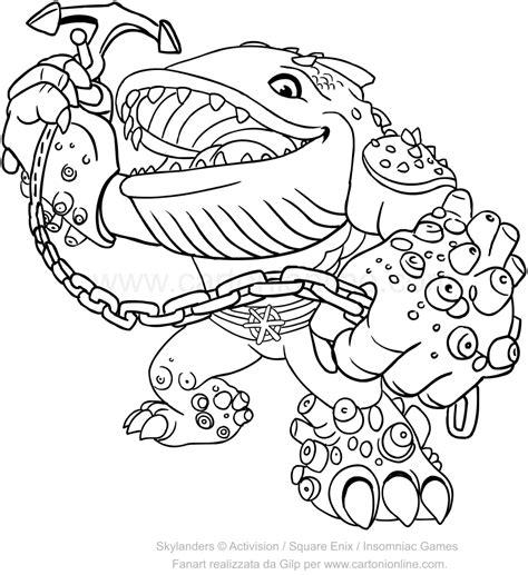 Kleurplaat Skylanders Giants by Skylanders Giants Thumpback Coloring Pages