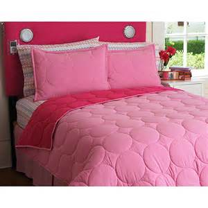 your zone reversible comforter and sham set pink stitch twin walmart com