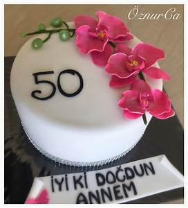 Kuchen Dekorieren Geburtstag : orchideen torte 50 geburtstag meine torten pinterest torte 50 geburtstag geburtstag und ~ Pilothousefishingboats.com Haus und Dekorationen