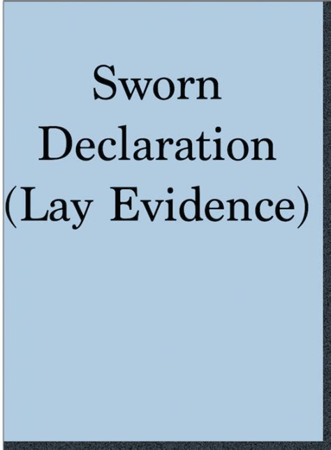 sworn declaration veterans law blog