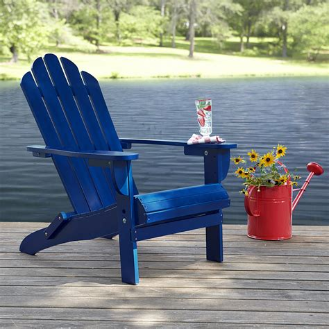 navy blue adirondack chairs plastic garden oasis adirondack chair blue