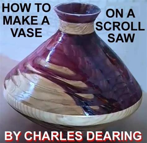 vase   slab  wood   scroll