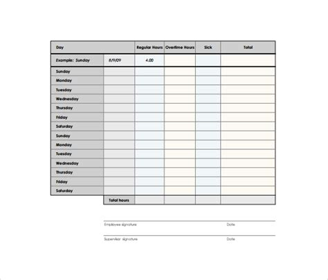 Timesheet Template Students by Biweekly Timesheet Template 7 Free Sles Exles