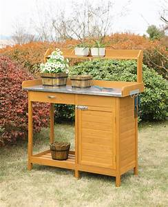 Convenience, Concepts, Deluxe, Potting, Bench, With, Cabinet