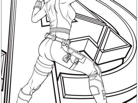 black widow logo pages coloring pages