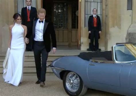 meghan markles  wedding dress  evening