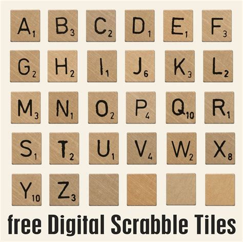 scrabble tiles printables pinterest