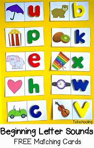 beginning letter sounds free matching cards sound free With preschool letter games